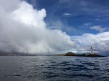 Steaming past the Lismore lighthouse
